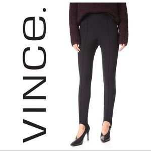 NWT [VINCE] Black Pleated Stirrup Trouser Pants